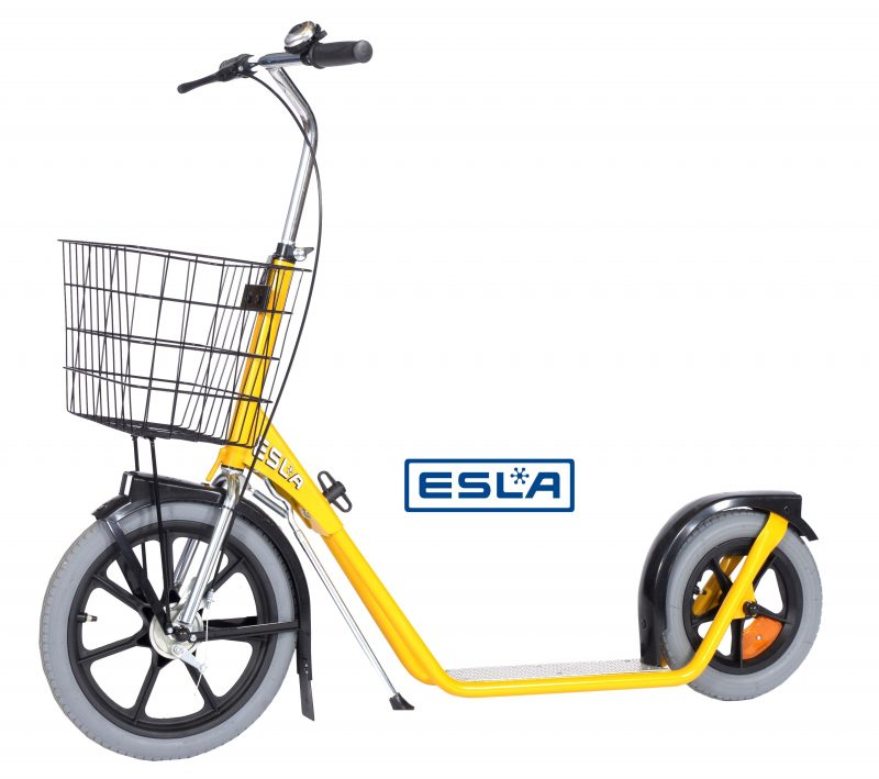 esla scooter yellow