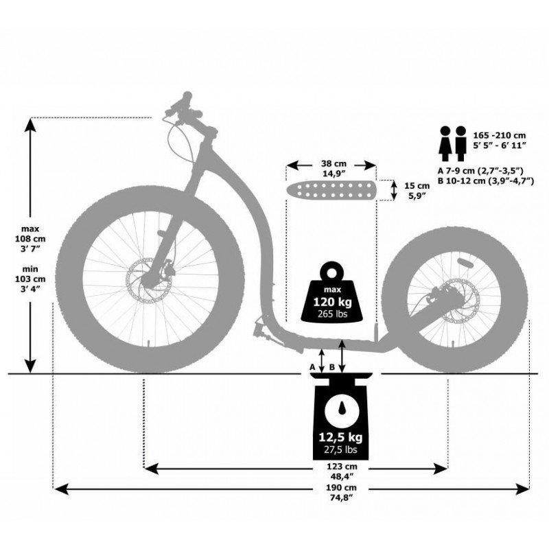 Kickbike Fat Max 26/20 - tekening